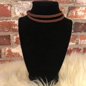 🆕NWOT 2 Strand Chocolate Braided Choker